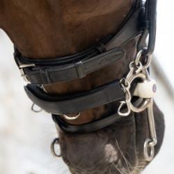 Protège gourmette Dy'on cuir cheval noir - Le Paturon