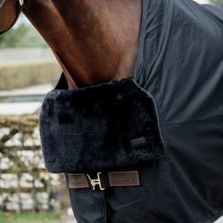 Horse Bib Kentucky protection poitrail mouton cheval noir - Le Paturon