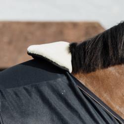 Horse Bib Kentucky protection garrot mouton cheval naturel - Le Paturon