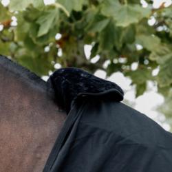 Horse Bib Kentucky protection garrot mouton cheval noir - Le Paturon