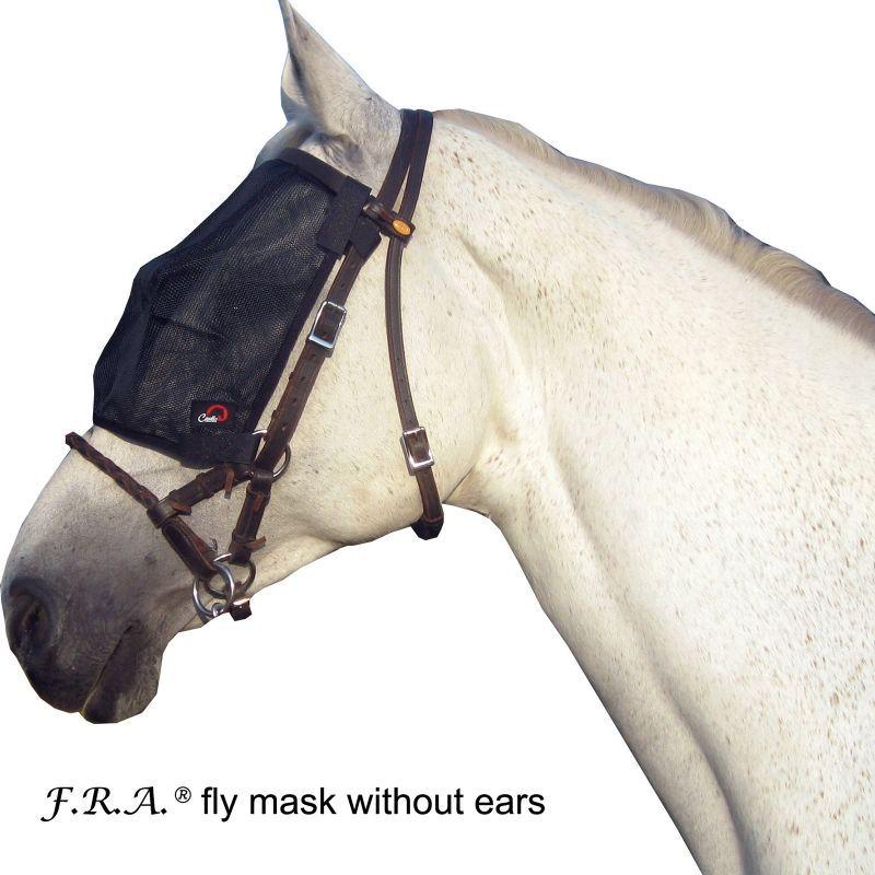Masque anti-mouches cheval sur bridon - Le Paturon