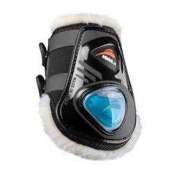 Protège-boulets cheval eQuick mouton eShock eFluidGel avec boutons noir - Le Paturon
