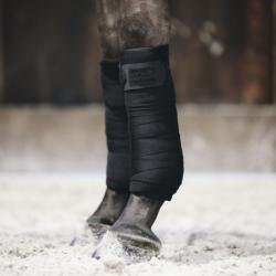 Bandes de travail Kentucky Repellent cheval set de 2 noir - Le Paturon