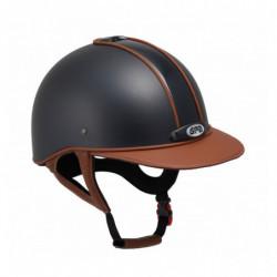Casque GPA Classic Leather 2X équitation cuir châtaigne - Le Paturon