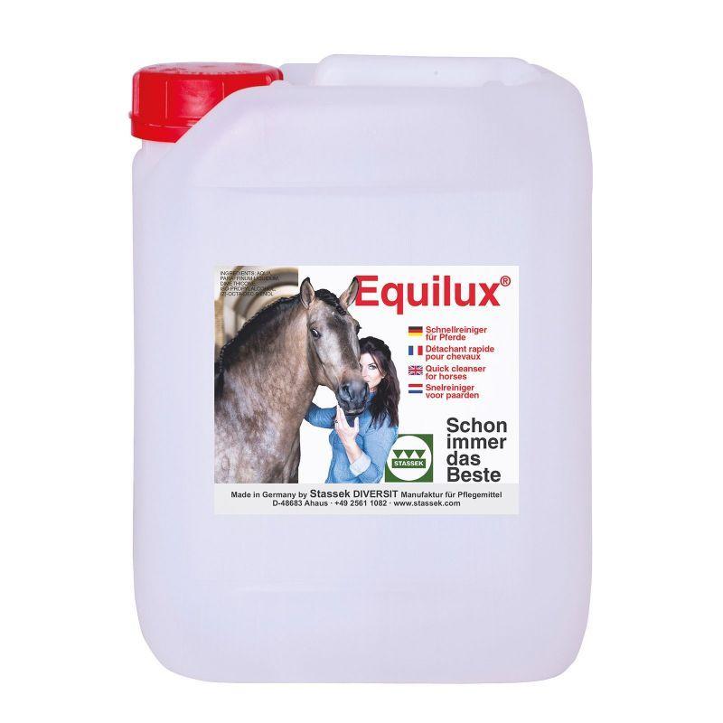 Equilux Shampoing sec Recharche 10 litres Stassek Détachant Cheval - Le Paturon