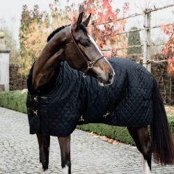Couverture Show Rug Kentucky cheval 160g noir mouton noir - Le Paturon