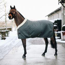 Couverture Show Rug Kentucky cheval 160g vert gris - Le Paturon