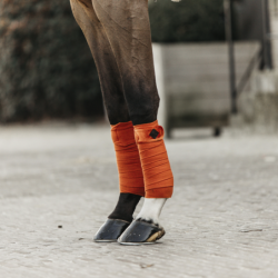 Bandes Polo Velvet Orange Kentucky Horsewear - Bandes Cheval - Le Paturon