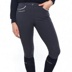 Pantalon Harcour Jaltika femme équitation Fix System Grip gris - Le Paturon