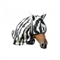 4 Masque anti mouche cheval, anti uv Buzz-off Zebra, Bucas, Le Paturon