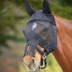2 Masque anti mouche cheval, anti uv, franges Premium, Waldhausen, Le Paturon