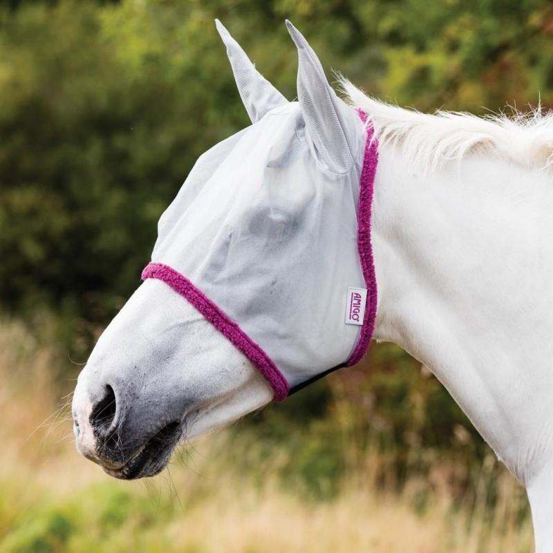 1 Masque anti mouche cheval, anti uv maille fine Amigo, Horseware, Le Paturon