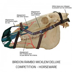 3 Bridon anatomique Micklem Rambo Competition Deluxe Horseware