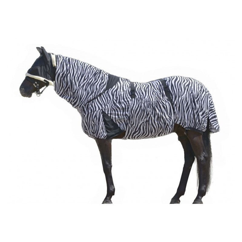 1 Couvertures anti-insectes cheval : Couverture anti-dermite Zebra, Waldhausen