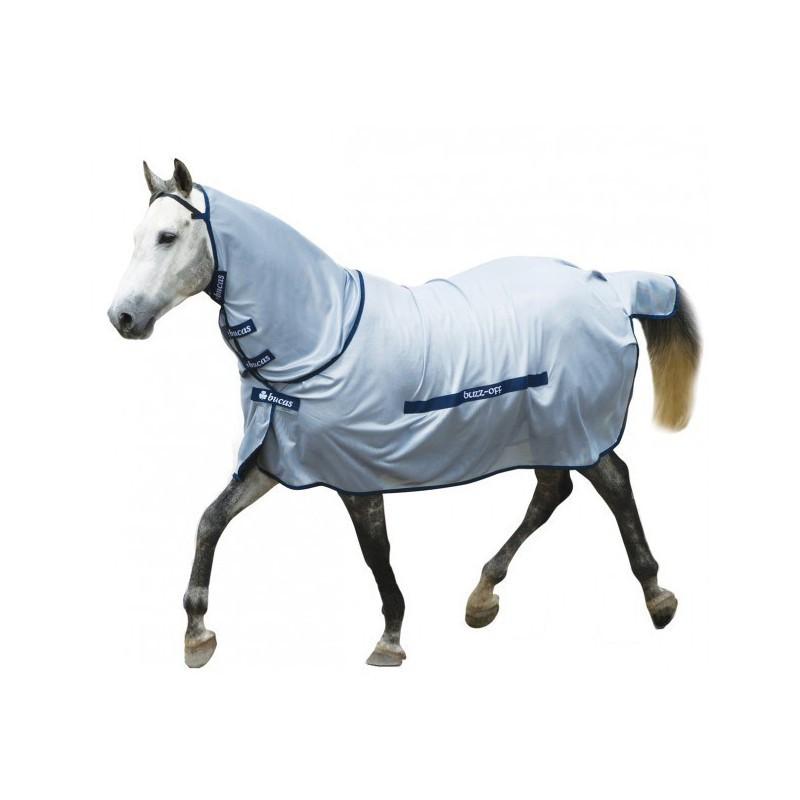 1 Couvertures anti-insectes cheval : Couverture anti-mouche cheval avec cou buzz-off Full neck, Bucas
