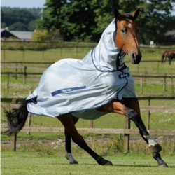 2 Couvertures anti-insectes cheval : Couverture anti-mouche cheval avec cou buzz-off Full neck, Bucas