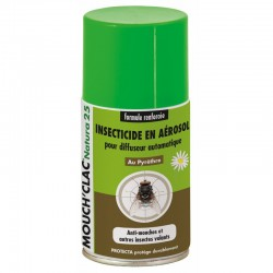 1 Recharge diffuseur insecticide naturel Mouch Clac Natura 25, FlyInsect : Anti-Mouche cheval
