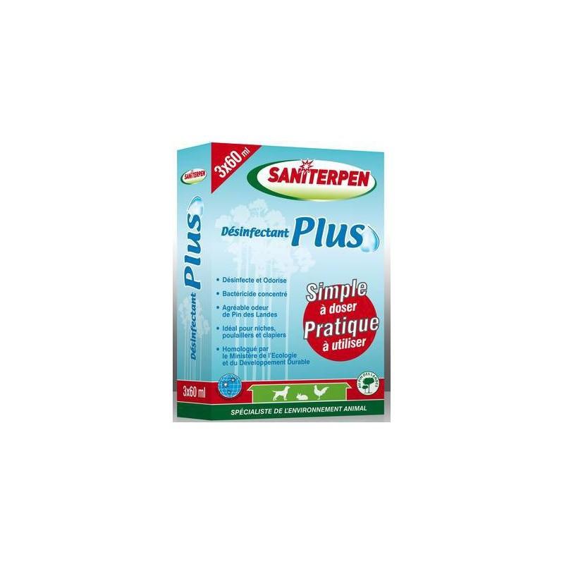 1 Désinfectant à diluer locaux et matériel 3x60 ml Plus,Saniterpen,EquestraSaniterpen