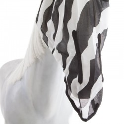 3 Masque anti UV cheval, anti-mouche cheval Zebra, Bucas - Le Paturon