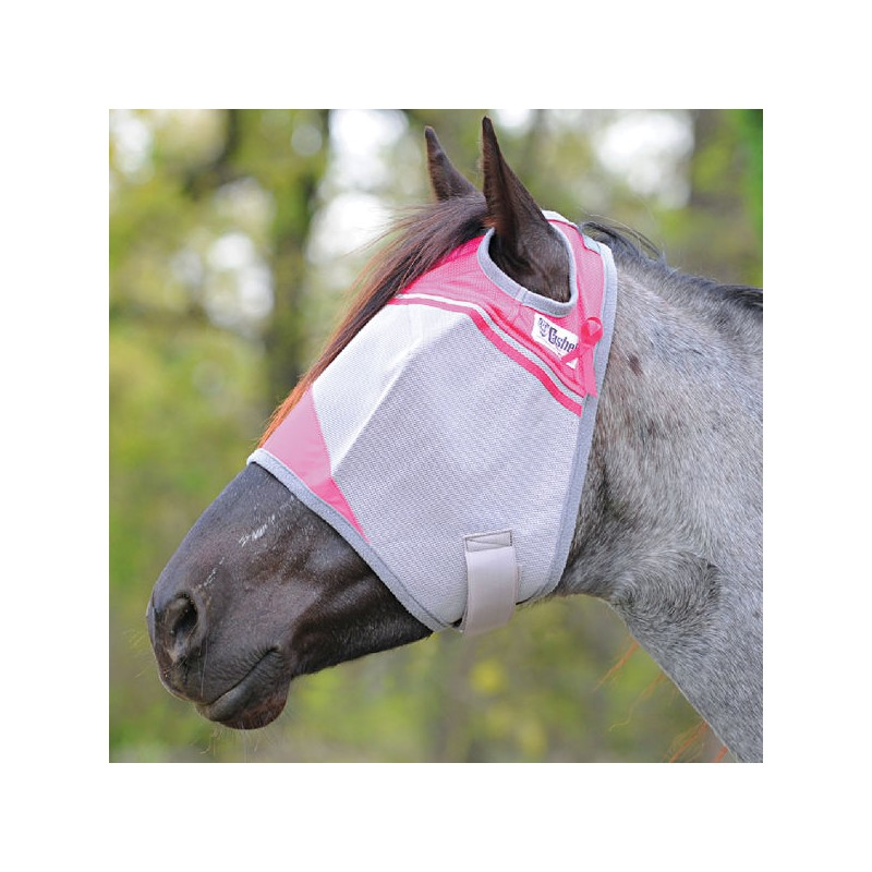 1 Masque anti-mouche cheval rose, Fly Mask Crusader Color Cashel -Rose - Le Paturon