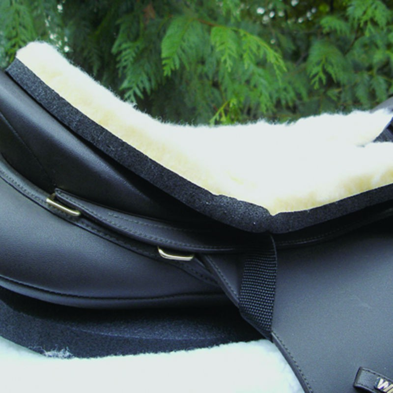 1 protection mouton selle anglaise, cashel, amortisseur cheval, equipement cheval