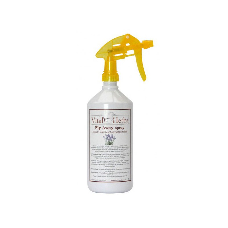 Fly Away Spray Cheval ,Vital Herbs,Anti-Insecte et Anti-Mouche cheval