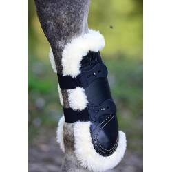 3 Guêtre mouton cuir élastique cheval,Kentucky,Guêtre cheval