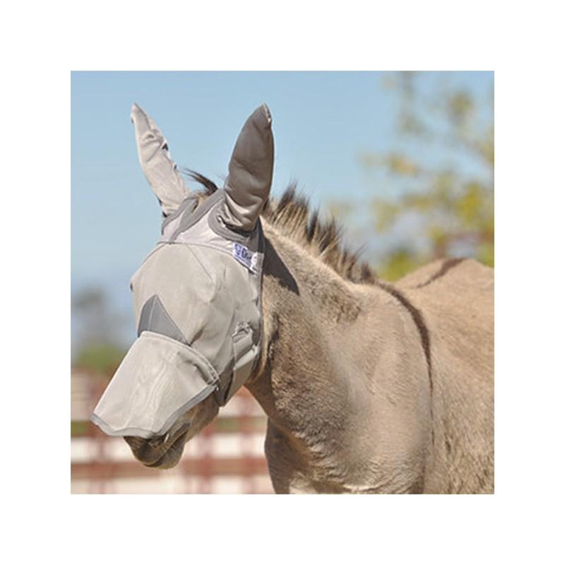 1 Masque Anti-Insectes Oreilles Naseaux Ane Mule ,Cashel,Masque Anti-Mouches cheval