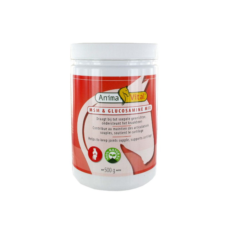 1 Mix MSM Glucosamine Cheval ,Animavital,Sélection Compléments cheval