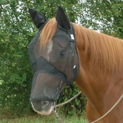 1 Masque Anti-Mouches cheval, Masque Anti-Insectes Travail Oreilles Naseaux Cheval ,Cashel