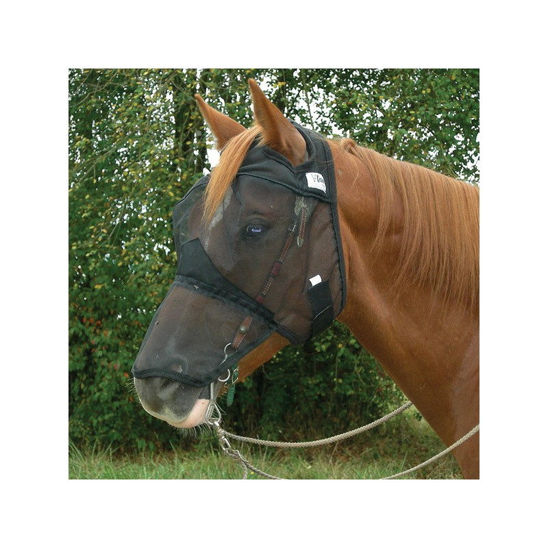 1 Masque Anti-Mouches cheval, Protection Naseaux : Equipement Cheval Cashel