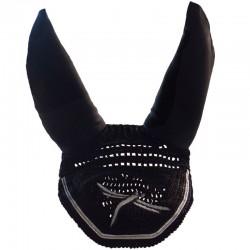 2 Bonnet anti mouche cheval, anti-bruit Soundless, FREEJUMP, Le Paturon