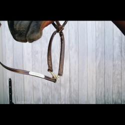 4 Longe 270 cm Présentation chaine Cuir Kentucky,Kentucky,Licol cheval et Muselaine