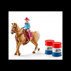 1 Kit de jeux Barrel Racing avec Cowgirl,Schleich,Schleich