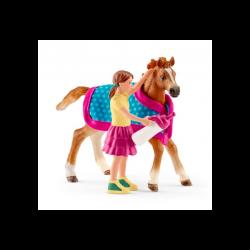 1 Kit de jeux Foal + Couverture,Schleich,Schleich