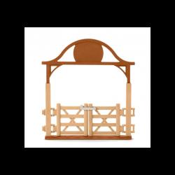 3 Kit de jeux Pré pour chevaux avec portail,Schleich,Schleich