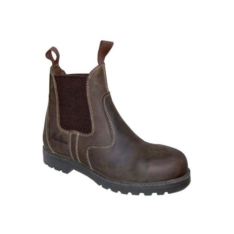 1 Boots de sécurité cuir huilé Stable Cavalhorse : Boots Equitation - Le Paturon