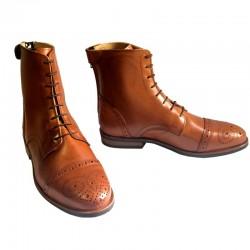 2 Boots cuir lisse Cyprien Cavalhorse : boots équitation - Le Paturon