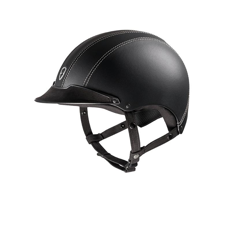 1 Casque équitation cuir lisse Epona Egide - Le Paturon