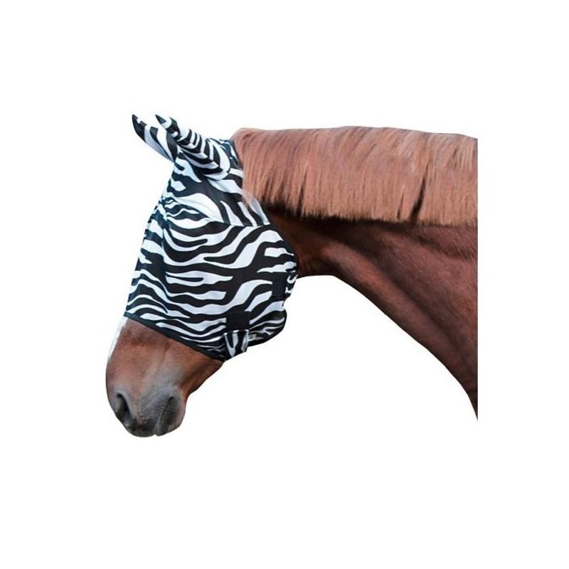 1 Masque anti-mouche Zebra : Masque anti mouche cheval - Le Paturon
