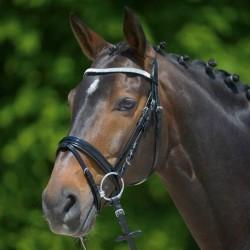 1 Bridon cheval cuir muserolle combinée X-Line Granada,Waldhausen,Bridon cheval