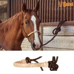 1 Licol éthologique corde tressé Brun Muserolle Natural,Cashel,Licol cheval