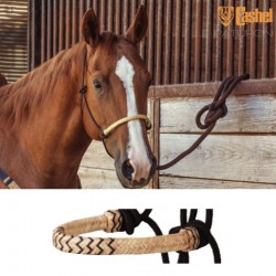 1 Licol éthologique corde tressé Noir Muserolle Natural Noir,Cashel,Licol cheval