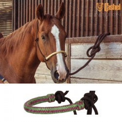 1 Licol éthologique corde tressé Noir Muserolle Violet Vert,Cashel,Licol cheval