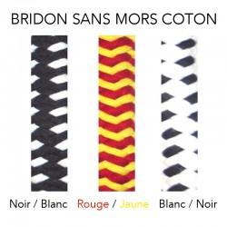 4 Ethologie, Bridon sans mors cheval coton avec rênes Igor,Cheval Naturellement,Bridon sans mors