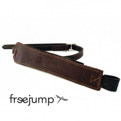 1 Étrivières Freejump Pro Grip monobrin cuir marron,Freejump,Étriers