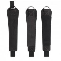 3 étrivières Freejump Pro Grip monobrin cuir noir : Etrivières