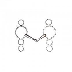1 Mors cheval Pessoa quatre anneaux brisé en inox : Cavalhorse - Le Paturon