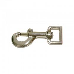 1 Mousqueton nickelé à tirette passe carrée 2 cm : Cavalhorse - Le Paturon