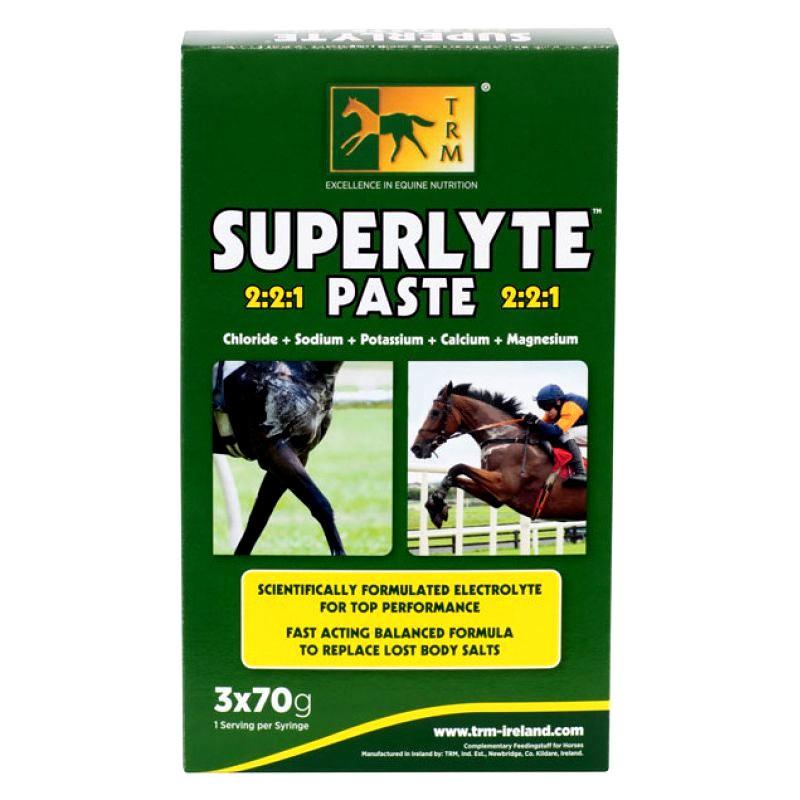 1 Electrolytes Superlyte TRM Paste seringue 70g x3 : TRM - Le Paturon